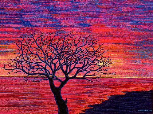 Sunset Passion - Reproduction Giclee Art Print On Canvas