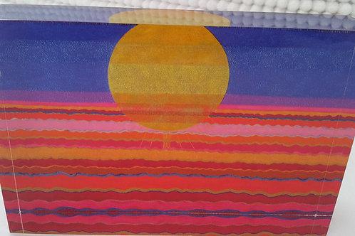 Art Block - Desert Sun (Acrylic)