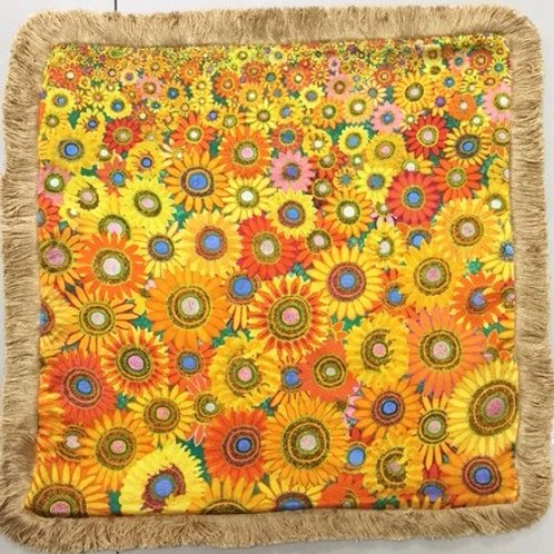WS Cushion Sunflower Passion - No Crystals