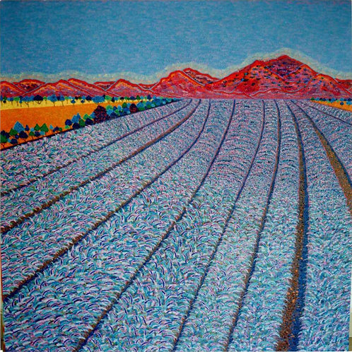 Lavender Blue - Reproduction Giclee Art Print On Canvas