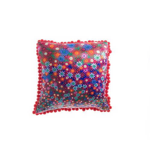 Cushion A Field of Flowers - With Swarovski® 100% Branded Crystals