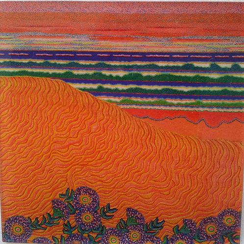 Art Block - Golden Sand Dune Beach (Acrylic)