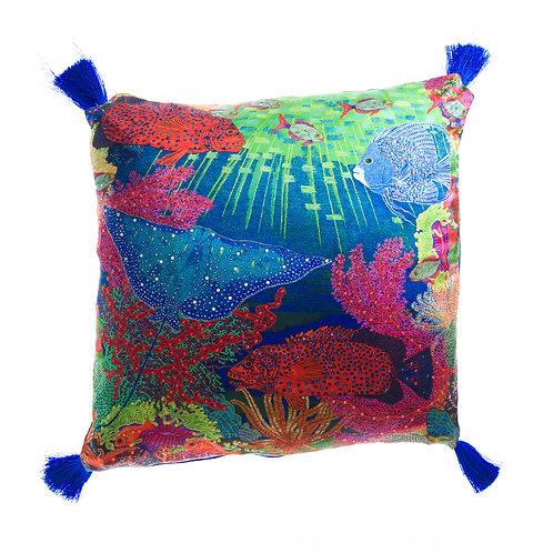WS Cushion Sea Garden of Eden - With Swarovski® 100% Branded Crystals