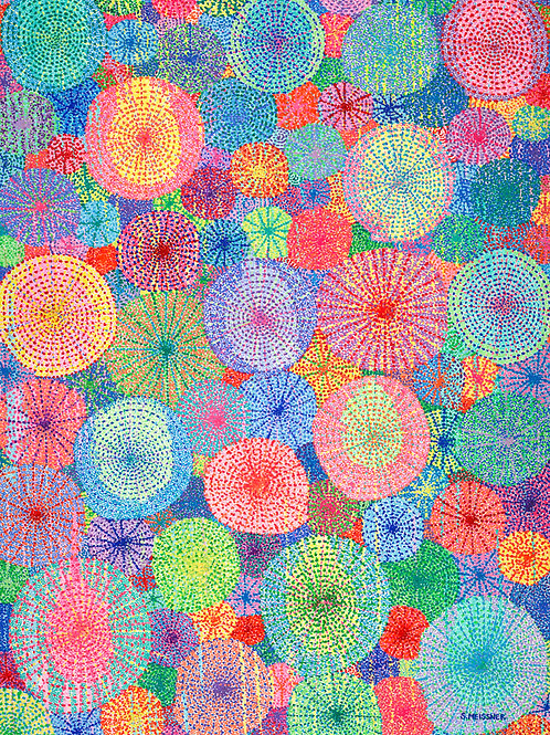 Bubbles Of Light - Reproduction Giclee Art Print On Canvas