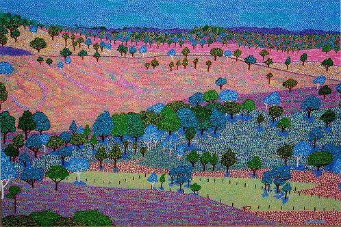 Blue Gum Valley Landscape - Oil Artwork