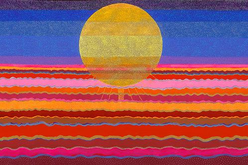 Desert Sun- Reproduction Giclee Art Print On Canvas