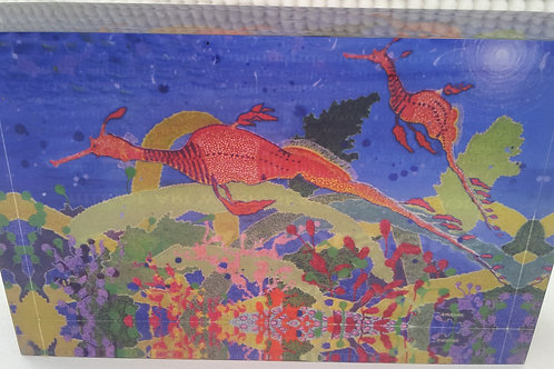 Art Block - Seaweedy Dragons (Acrylic)