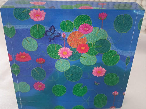 Art Block - Blue Pond (Acrylic)