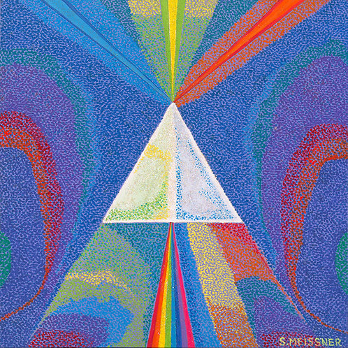 Pyramid Of Light - Reproduction Giclee Art Print On Canvas