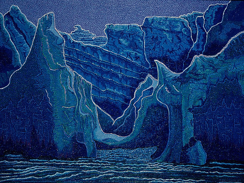 Antarctic Blue - Oil Artwork