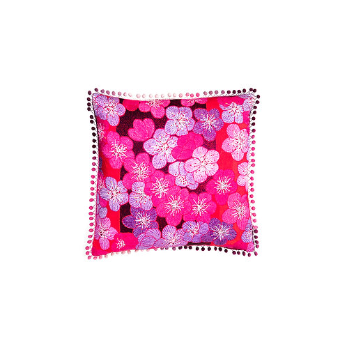 Cushion Blossom Bliss - With Swarovski® 100% Branded Crystals