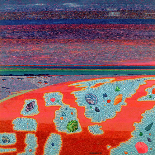 Strawberry Beach - Reproduction Giclee Art Print On Canvas