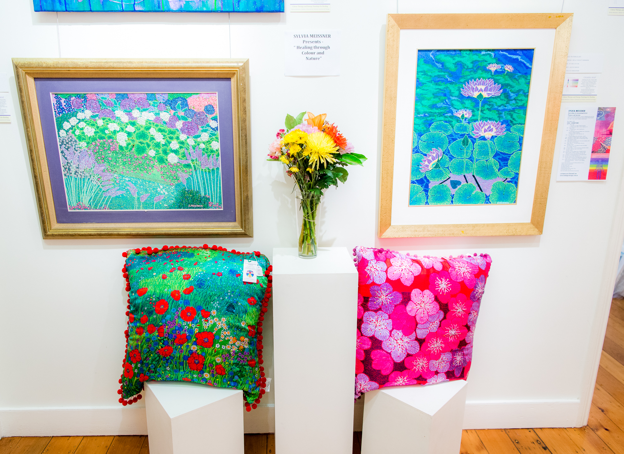 Cushions & Art On Display