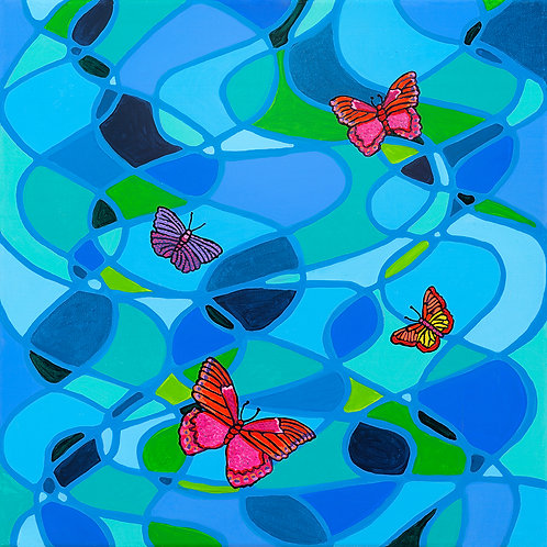 Butterfly Swirl - Acrylic Artwork