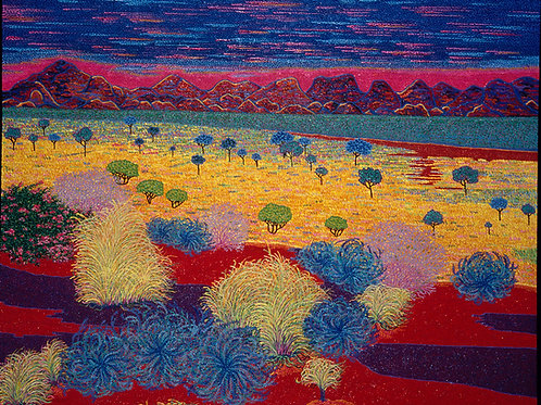 Paradise Desert - Reproduction Giclee Art Print On Canvas