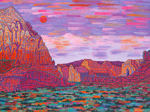 Sedona Bedrock - Reproduction Giclee Art Print On Canvas