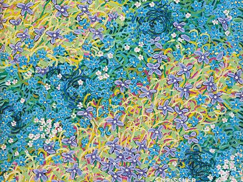 Elves Garden - Reproduction Giclee Art Print On Canvas