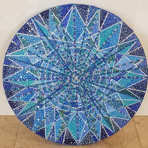 Time Stargate IV - Oil, Acrylic & Swarovski® Branded Crystals