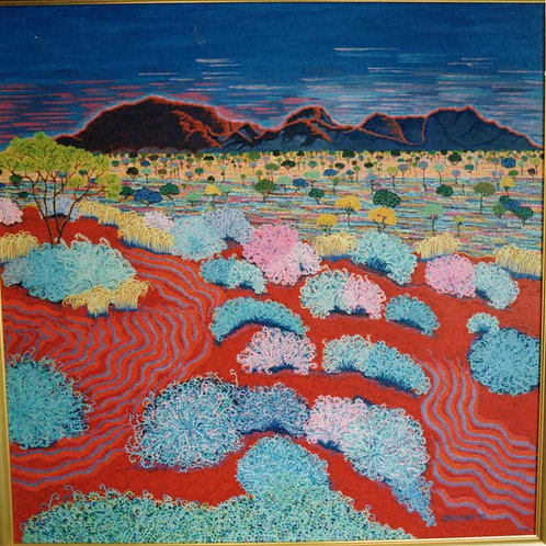 Desert Magic - Reproduction Giclee Art Print On Canvas
