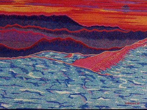 Alpine Snowline - Oil and Shimmer Artwork