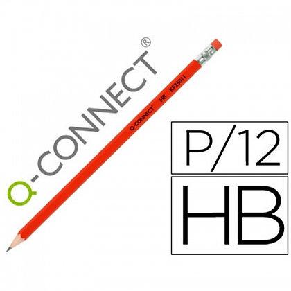 LÁPIS DE GRAFITE Q-CONNECT HEXAGONAL C/BORRACHA N.2 HB