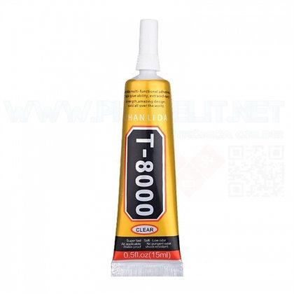 COLA TRANSPARENTE VISCOSIDADE MÉDIA T-8000 TUBO 15 ml