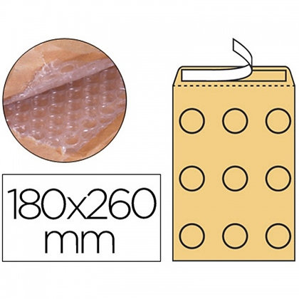 ENVELOPE BORBULHAS Q-CONNECT 180X260MM