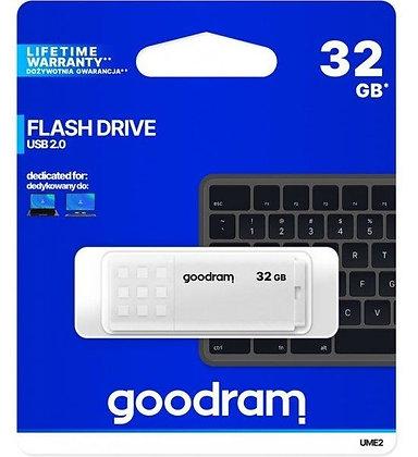 PEN DRIVE USB 2.0 32GB UME2 BRANCO-GOODRAM