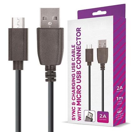 CABO USB-A 2.0 MACHO / MICRO USB-B MACHO 1M