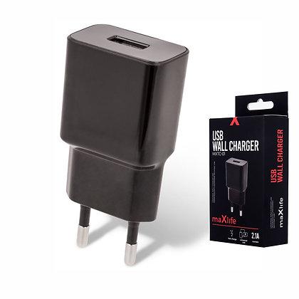 ALIMENTADOR COMPACTO 1 USB 5V 2.1A PRETO