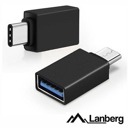 ADAPTADOR USB-C MACHO / USB-A FÊMEA LANBERG