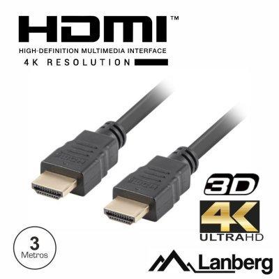 CABO HDMI DOURADO MACHO / MACHO 1.4 3M LANBER