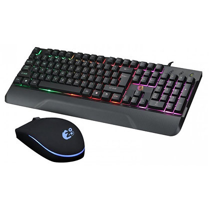 KIT RATO USB 2400DPI+TECLADO GAMING USB BACKLIGHT RGB-Z8TECH