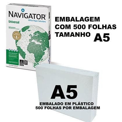 PAPEL COPIA NAVIGATOR 80GR/A5