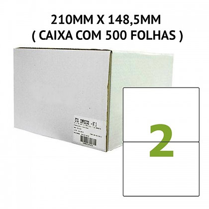 ETIQUETA LASER A4 210MM X 148,5MM (500 FOLHAS)
