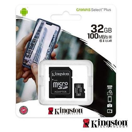 CARTÃO MEMÓRIA MICRO SDHC 32GB UHS-I ADAPTADOR KINGSTON