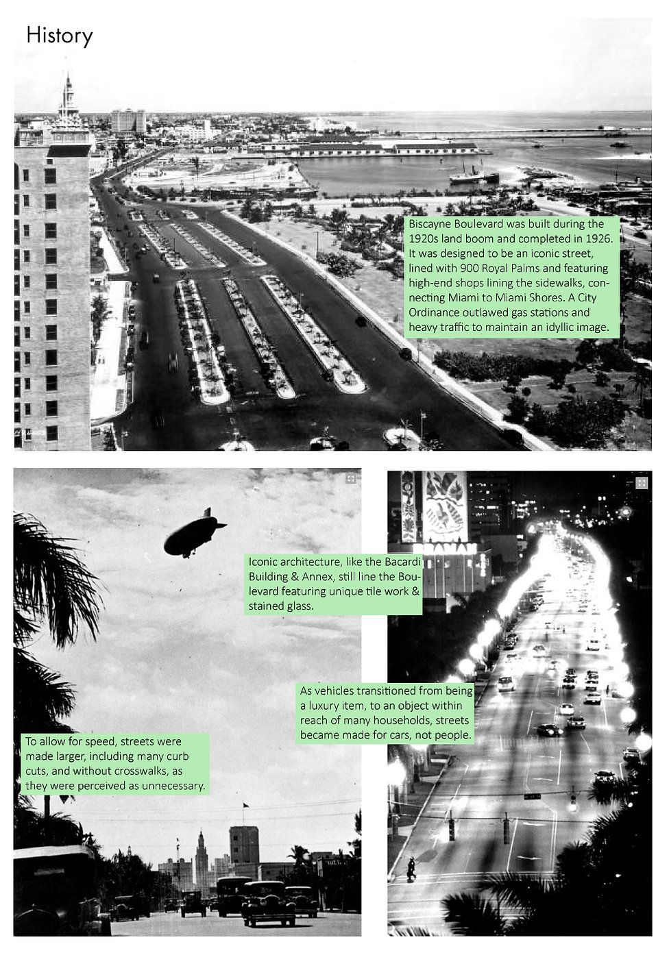Reimagine Biscayne Boulevard-Future Vision Studios-The history of Biscayne Boulevard-Image Credit-Miami Herald-Pedestrian Car Oriented
