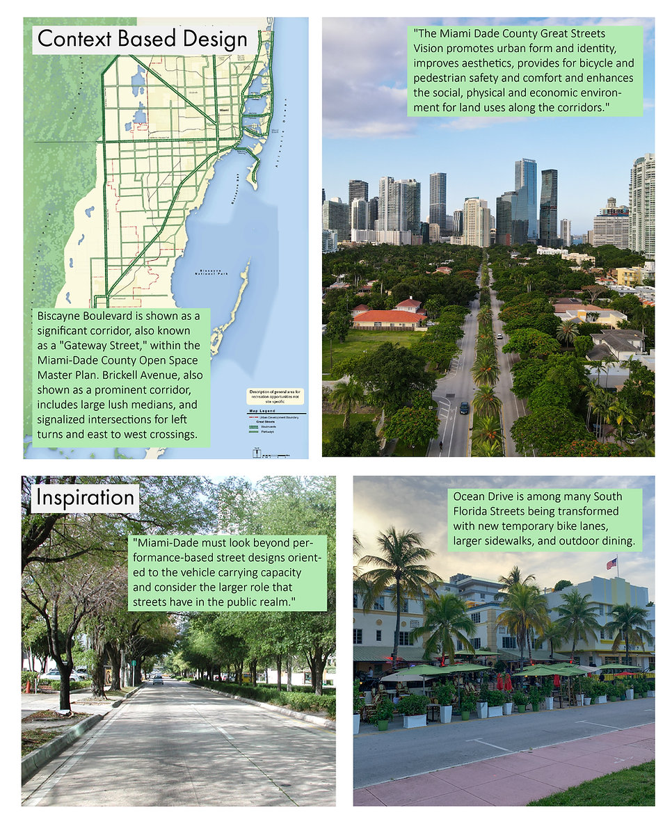 Reimagine Biscayne Boulevard-Future Vision Studios-Miami Dade County Parks Department Great Streets Vision Masterplan Pedestrian Safety Greenway Design