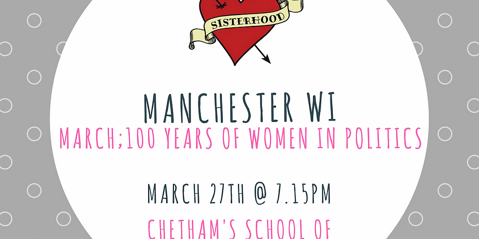 March Meeting: 100 Years of Women in Politics