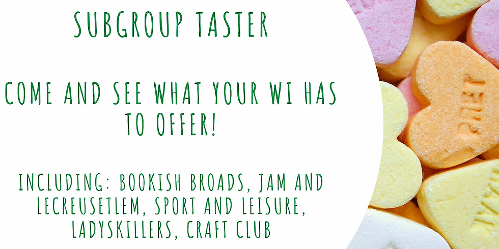 February 2021 meeting: Subgroup taster sessions