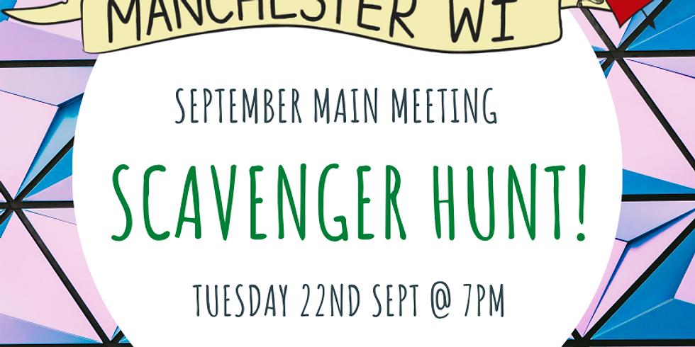 September Meeting - Scavenger Hunt