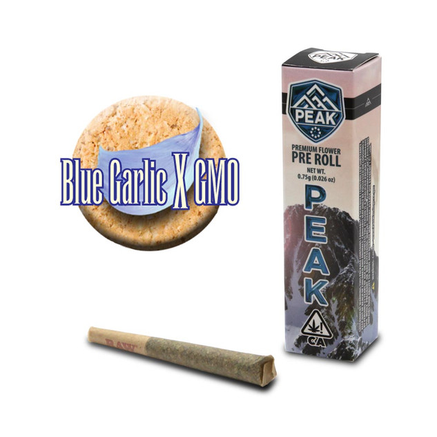 PEAK pre roll - Blue Garlic X GMO.jpg