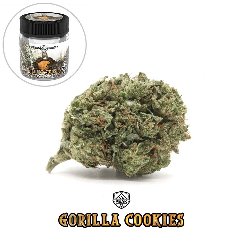 PEAK - Gorilla Cookies (flower and jar).