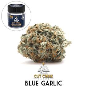 Cut Creek - Blue Garlic (flower and jar)