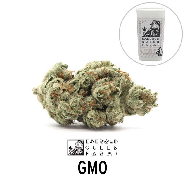 Emerald Queen - GMO (flower and jar).jpg