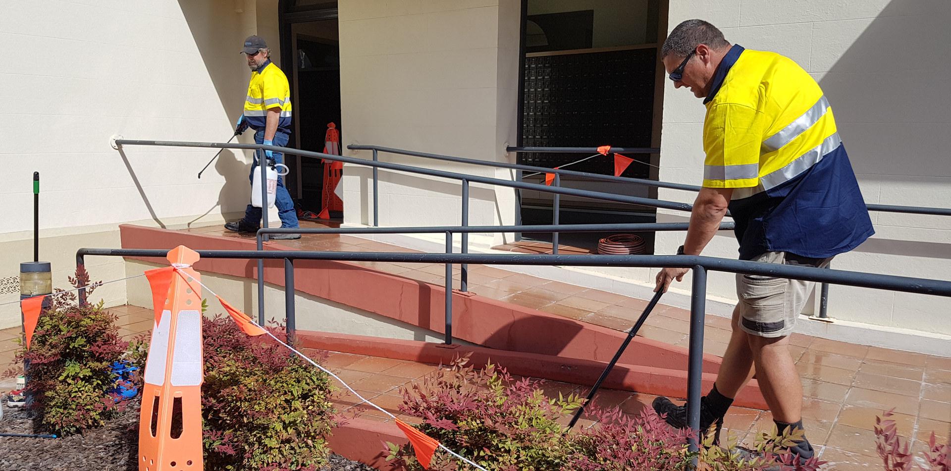 anti slip treatment of stairs and walkways at Bundaberg post office