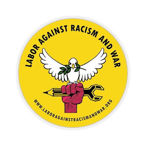 Round Logo Sticker Labor Against Racism and War