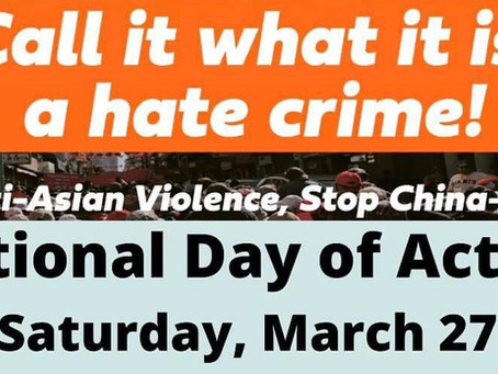 NATIONAL ACTION: STAND AGAINST ANTI-ASIAN HATE CRIMES