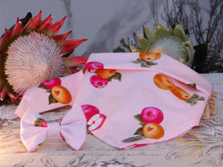 PINK ORCHARD BANDANA & BOW TIE open