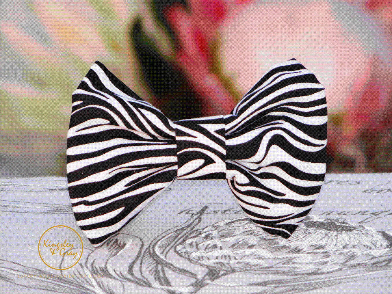 ZEBRA STRIPE BOW TIE only
